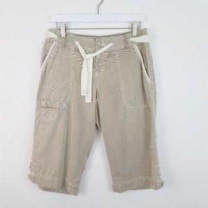 EDDIE BAUER Striped Bermuda Shorts NWOT Size 4